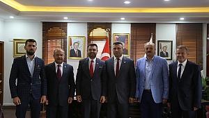 Başkan Özen'e, Başkan Övün' den Hayırlı Olsun Ziyareti