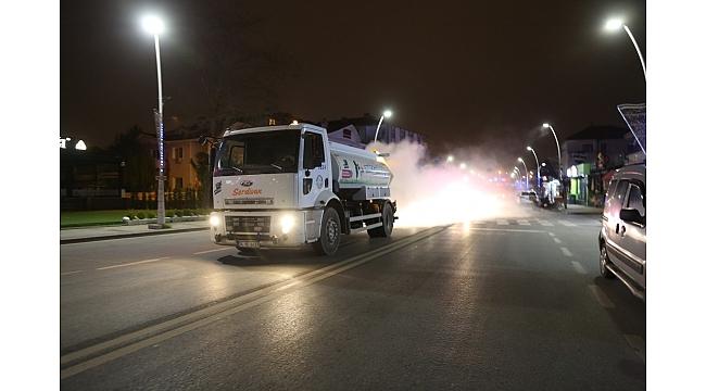 Serdivan'da Sokaklar Bu Cihazla Dezenfekte Ediliyor
